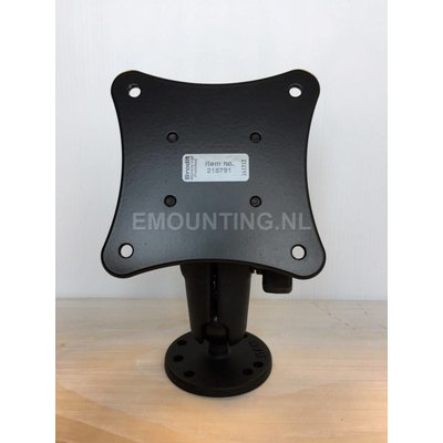 RAM Mount VESA 75 Steun voor vaste montage kleine monitoren.