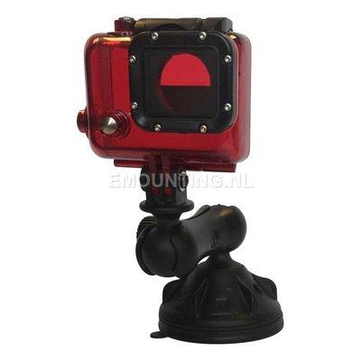 RAM Mount GoPro camera kogel compacte zuignap bevestigingset