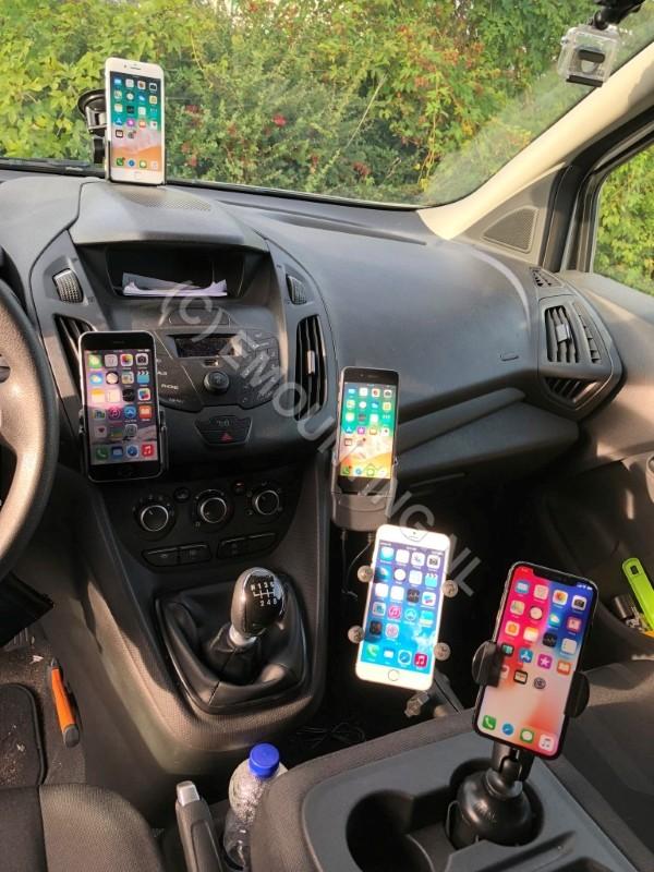 Emounting heeft houders voor elke iPhone