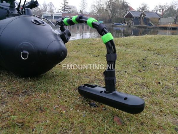 BellyBoat met RAM Mount Transducer montage