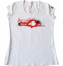 Ladies dance4life T-Shirt White