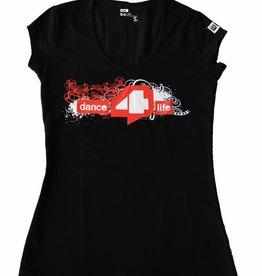 Dames T-shirt Zwart