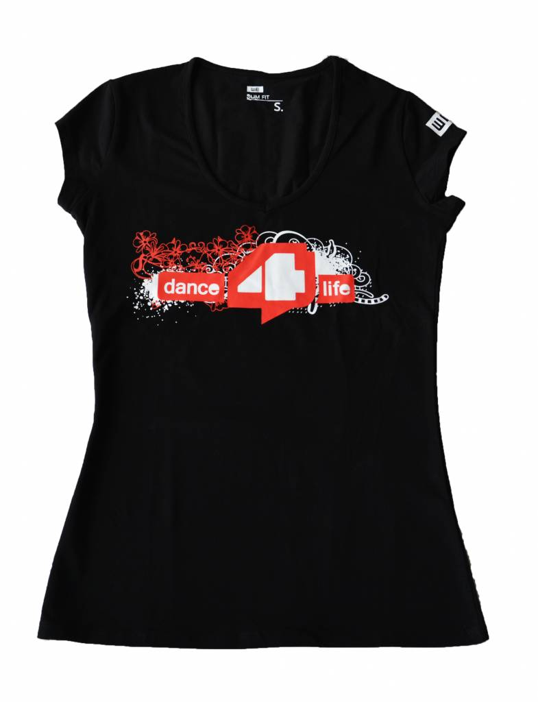 Ladies dance4life T-Shirt Black