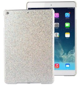 Glitter iPad air hoes zilver