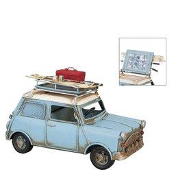 Clayre & Eef 6Y1201 - Model auto/fotolijst - 20 x 10 x 13 cm - ijzer - groen