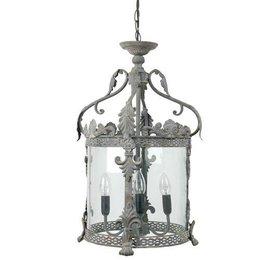 40538Z - Hanglamp - Doorsnede/hoogte:  32 x 132 cm 4x E14 / Max 25W - ijzer - grijs