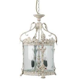40538N - Hanglamp - Doorsnede/hoogte:  32 x 132 cm 4x E14 / Max 25W - ijzer - natuur