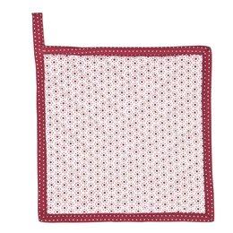 DOT45R - Pannenlap - 20 x 20 cm - katoen - rood