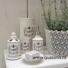 61720 - Badkamer set (4) - aardewerk - wit