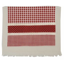 Clayre & Eef Kitchentowel 40*60 red