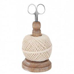 60352 - Touwhouder - Doorsnede/hoogte:  8 x 17 cm - hout - chocola
