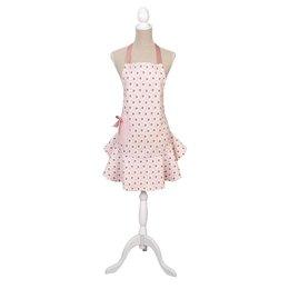 LOR41A - Schort - 68 x 75 cm - katoen - pink