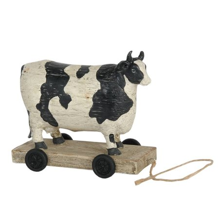 Spotted cow on wheels 14*7*12 cm
