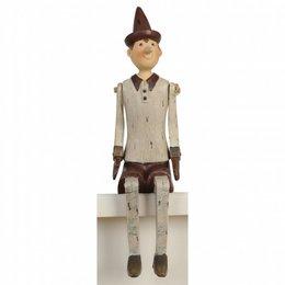 6PR0051 - Pinokkio - 12 x 8 x 30 cm - kunststof - grijs