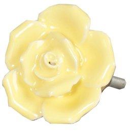 62557 - Deurknop - Doorsnede/hoogte:  4.5 cm - keramiek - geel