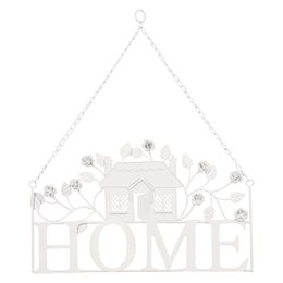 Metalen Hanger decoratie home 43 x 51 cm wit - 6Y1255W