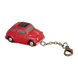 6Y1233 - Sleutelhanger auto - 4 x 2 x 2 cm - ijzer - rood