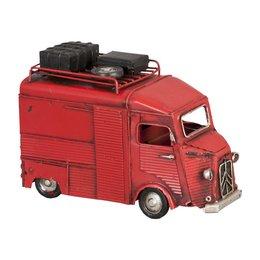 6Y1234 - Model auto - 17 x 7 x 11 cm - ijzer - rood