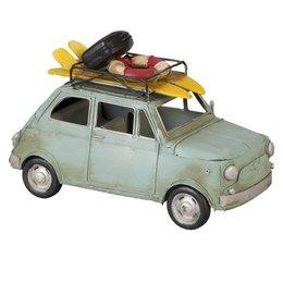 6Y1096 - Model auto - 25 x 11 x 16 cm - ijzer - Pastel blauw