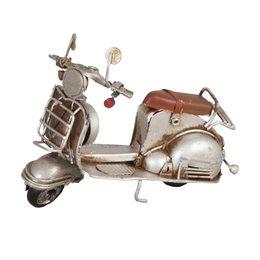 6Y1238 - Model scooter - 11 x 5 x 8 cm - ijzer - wit