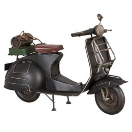 6Y1226 - Model Scooter - 30 x 14 x 20 cm - ijzer - zwart
