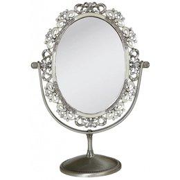 6ZI168 - Tafelspiegel - 27 x 20 x 11 cm - ijzer - grijs