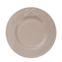 Clayre & Eef 6CE0228 - Bord - Doorsnede/hoogte: 25 cm - keramiek - donker beige