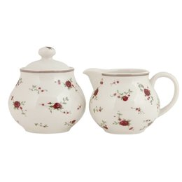 Milk jug & sugar bowl