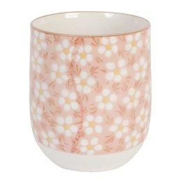 6CEMU0006 - Mok - Doorsnede/hoogte:  6 x 8 cm - keramiek - pink