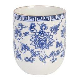 6CEMU0004 - Mok - Doorsnede/hoogte:  6 x 8 cm - keramiek - blauw