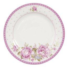 ERFP - Groot bord - Doorsnede/hoogte:  26 cm - porselein - pink