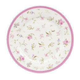 ERDP - Klein bord - Doorsnede/hoogte:  22 cm - porselein - pink