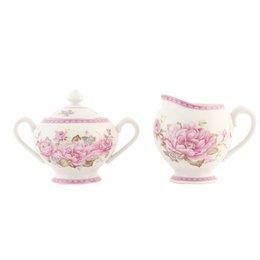 ERCRSU - Melkkannetje & suikerpot - 300 cc / 280 cc - porselein - pink