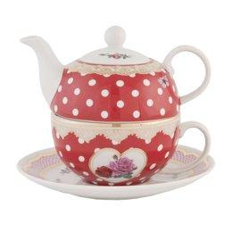 MADTEFO - Tea for one - 0.4 L - porselein - natuur