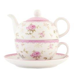 ERTEFO - Tea for one - 0.4 L - porselein - natuur
