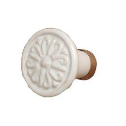 60075 - Deurknop - Doorsnede/hoogte:  3 cm - keramiek - wit