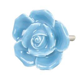 61867 - Deurknop - Doorsnede/hoogte:  4.5 cm - keramiek - blauw