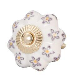 61857 - Deurknop - Doorsnede/hoogte:  4.5 cm - keramiek - pink