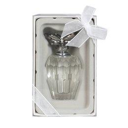 6ZI343 - Parfumflesje - Doorsnede/hoogte:  5 x 9 cm - ijzer - zilver