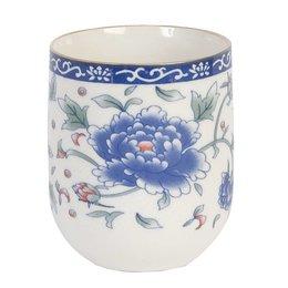 Clayre & Eef 6CEMU0008 - Mok - Doorsnede/hoogte: 6 x 8 cm - keramiek - blauw