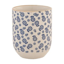 Clayre & Eef 6CEMU0022 - Mok - Doorsnede/hoogte: 6 x 8 cm - keramiek - blauw