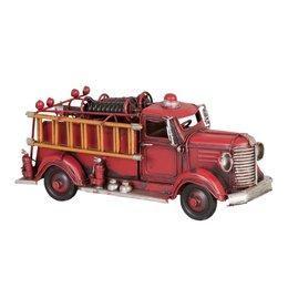 6Y1240 - Model brandweerwagen - 23 x 8 x 10 cm - ijzer - rood