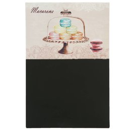 6Y1576 - Krijtbord - 24 x 36 cm - hout - zwart