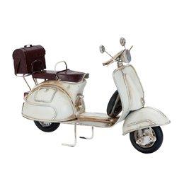 6Y1625 - Model scooter - 26 x 10 x 17 cm - ijzer - wit