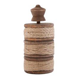 63275 - Touwhouder - Doorsnede/hoogte:  7 x 15 cm - hout - bruin