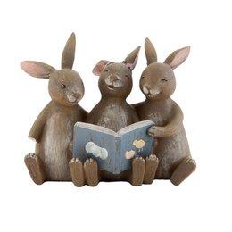 Clayre & Eef Decoration bunny 14*10*12 cm