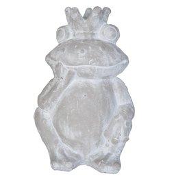 Clayre & Eef 6TE0087M - Decoratie frog 23 x 10 x 34 cm - steen