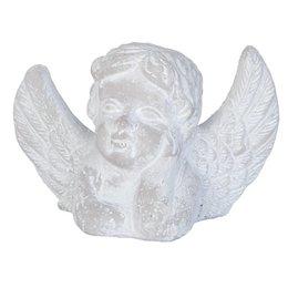 Clayre & Eef 6TE0094 - Decoratie engel 16 x 7 x 10 cm - steen