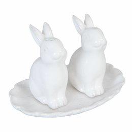 Clayre & Eef Salt and pepper rabbit 12*8*8 cm