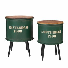 Clayre & Eef Side table (2) 53*36*57/46*31*52 cm
